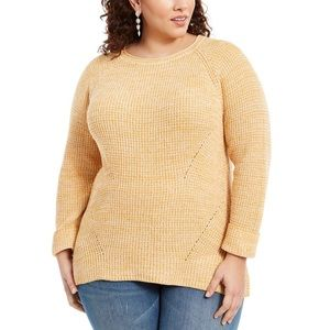 Style & Co Pointelle-Trim Pullover Knit Sweater 1X